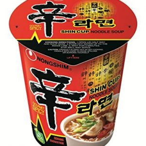 Nongshim Shin Noodle Cup, 2.64 Ounce Packages
