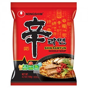 Nongshim Shin Noodle Ramyun, Gourmet Spicy Picante, 4.2-Ounce Packages (Pack of 20)
